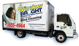 blind cleaning service vehicle